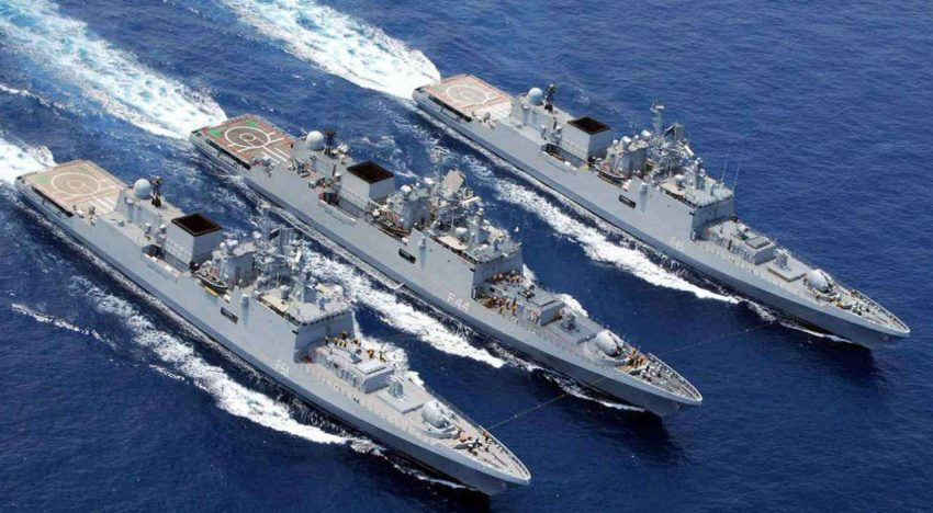 The Indian Navy's Western Naval Command carrying out major exercise in the Arabian Sea